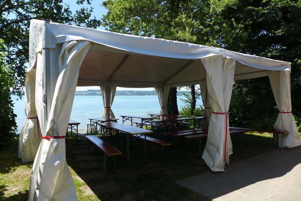 Ein kleines Zelt (Ausführung S) von Zeltvermietung hareis